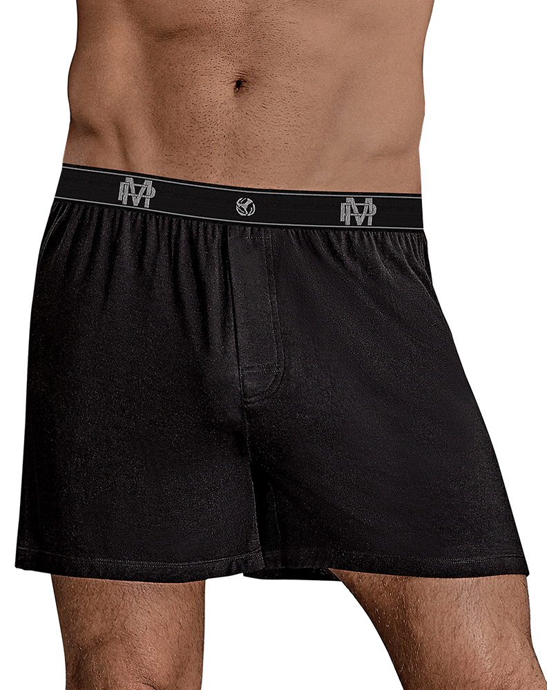 Male Power 160-253 Bamboo Boxer Short Black - StevenEven.com