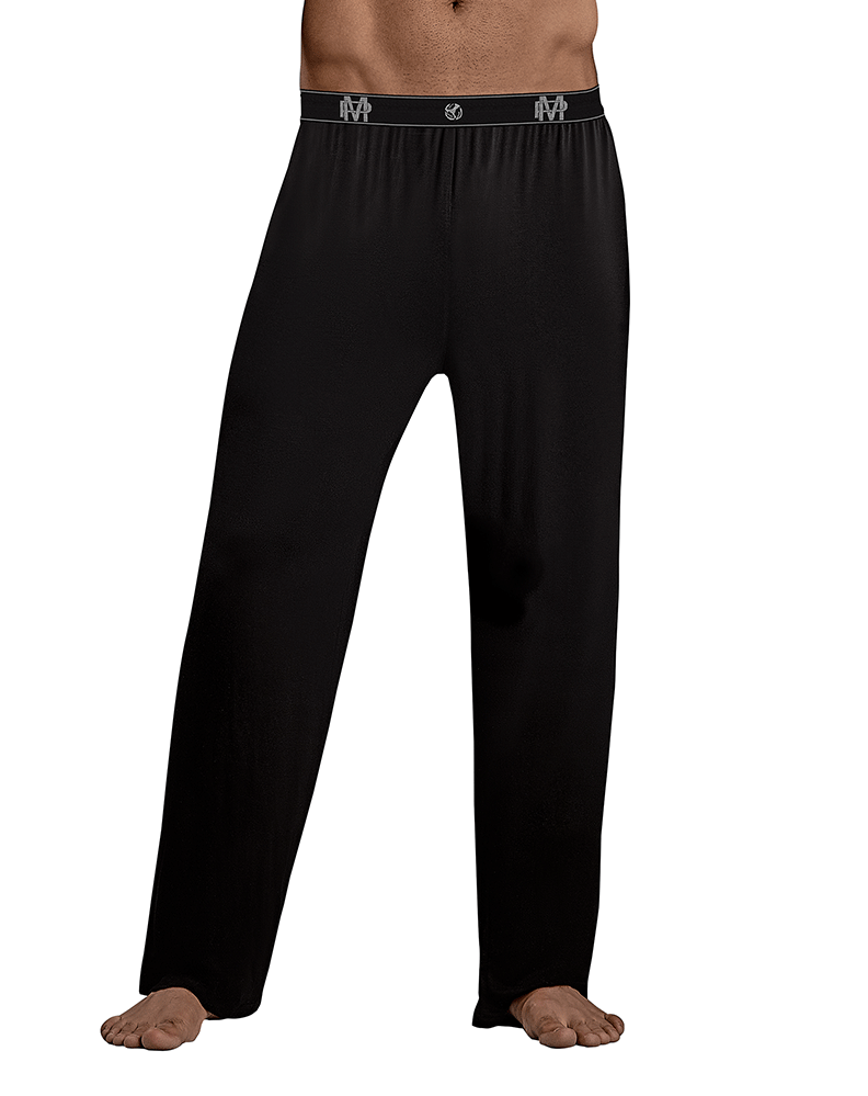 Male Power 188-253 Bamboo Lounge Pants Black - StevenEven.com