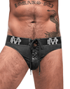Male Power 430-250 Black Ice Lace Up Thongs Black