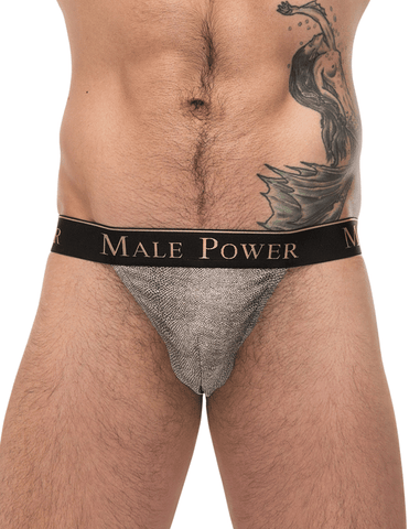 Male Power 491162 Stretch Lace Wonder Bikini Black