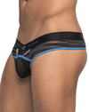 Male Power 415239 Clip Tease Clip Thong Black - StevenEven.com