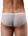 Male Power Pak885 Euro Male Mesh Micro Mini Pouch Short White