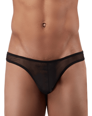 Male Power Pak882 Euro Male Mesh Mini Pouch Thong Black