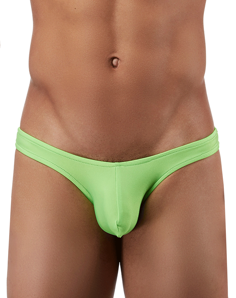 Male Power Pak874 Euro Male Spandex Full Cut Thong Lime - StevenEven.com