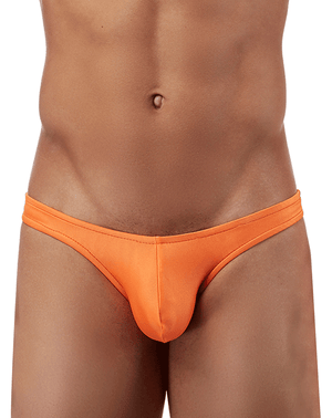 Male Power Pak874 Euro Male Spandex Full Cut Thong Orange