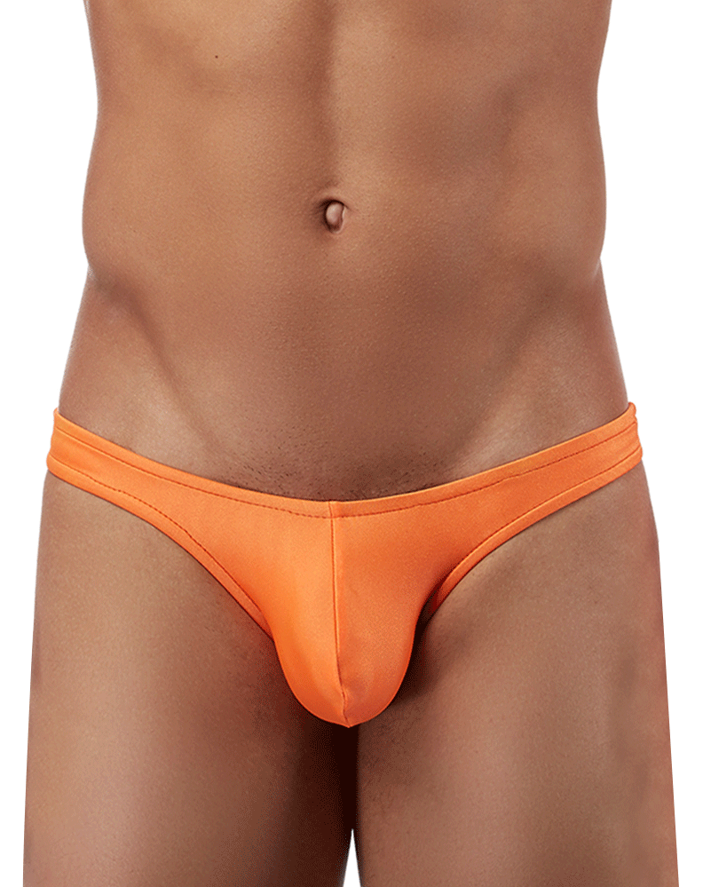 Male Power Pak874 Euro Male Spandex Full Cut Thong Orange - StevenEven.com