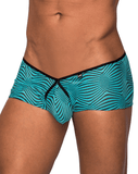 Male Power 130234 Tranquil Abyss Micro Mini Short Briefs Green