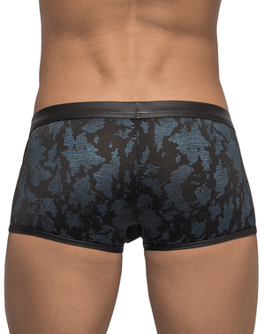 Male Power 134238 Strapped And Bound Strappy Short Boxer Briefs Black