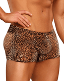 Male Power 153030 Animal Pouch Boxer Briefs Brown - StevenEven.com
