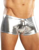 Male Power 153070 Heavy Metal Mini Short Boxer Briefs Silver