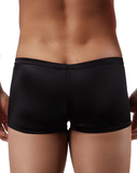 Male Power 153076 Satin Lycra Low Rise Boxer Briefs Black - StevenEven.com