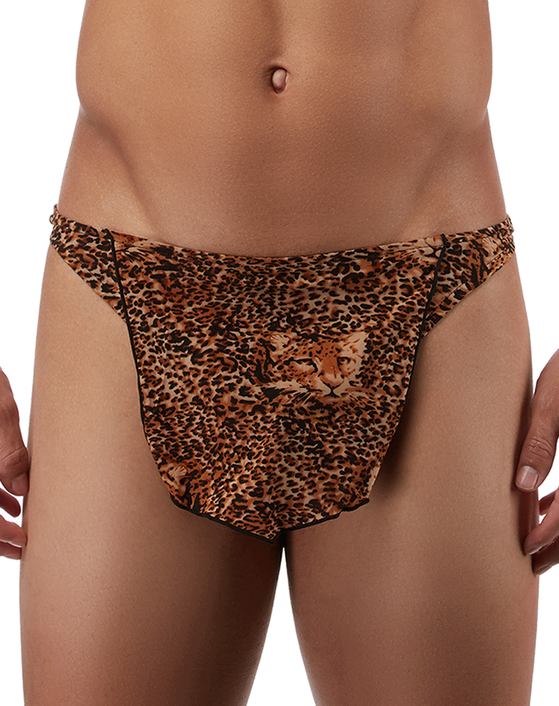 Male Power 329030 Animal Tarzan Thong Brown
