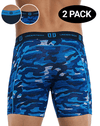 Undertech 347730-466 2pk Printed And Solid Boxer Briefs Camo-navy