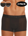 Papi 626180-962 2pk Cool 2 Solid Brazilian Trunks Black-gray - StevenEven.com