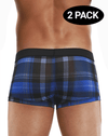 Papi 626182-968 Cool2 2pk Solid-print Brazilian Trunks Black-blue