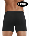 Papi 626185-962 Cool2 2pk Solid Boxer Briefs Black-gray