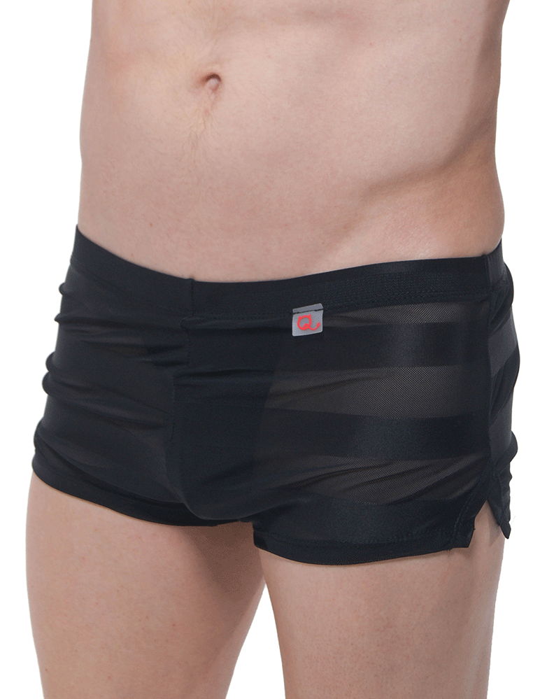 Petitq Pq180906 Jock Athletic Shorts Black - StevenEven.com