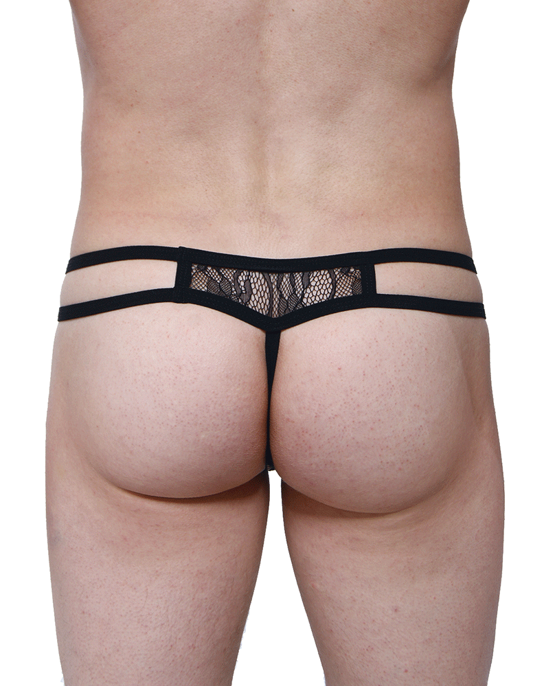 Petitq PQ180103 Thongs Ornex Black
