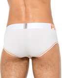 Private Structure Ptuz3791 Platinum Tencel Mini Brief White-yellow - StevenEven.com