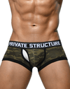 Private Structure Scuz3781 Soho Camouflage Mesh-fly Trunk Green Camo