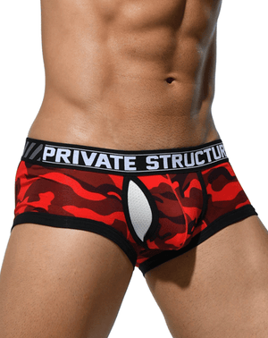 Private Structure Scuz3781 Soho Camouflage Mesh-fly Trunk Red Camo