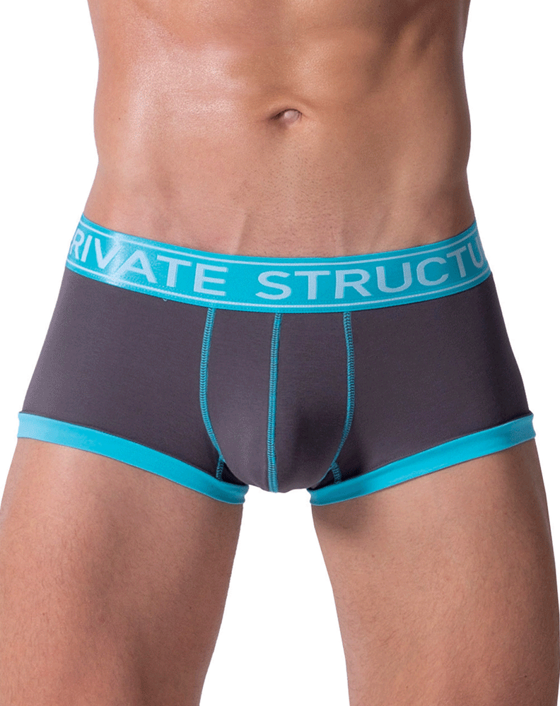 Private Structure Sluz3680 Soho Luminous Boxer Briefs Teal