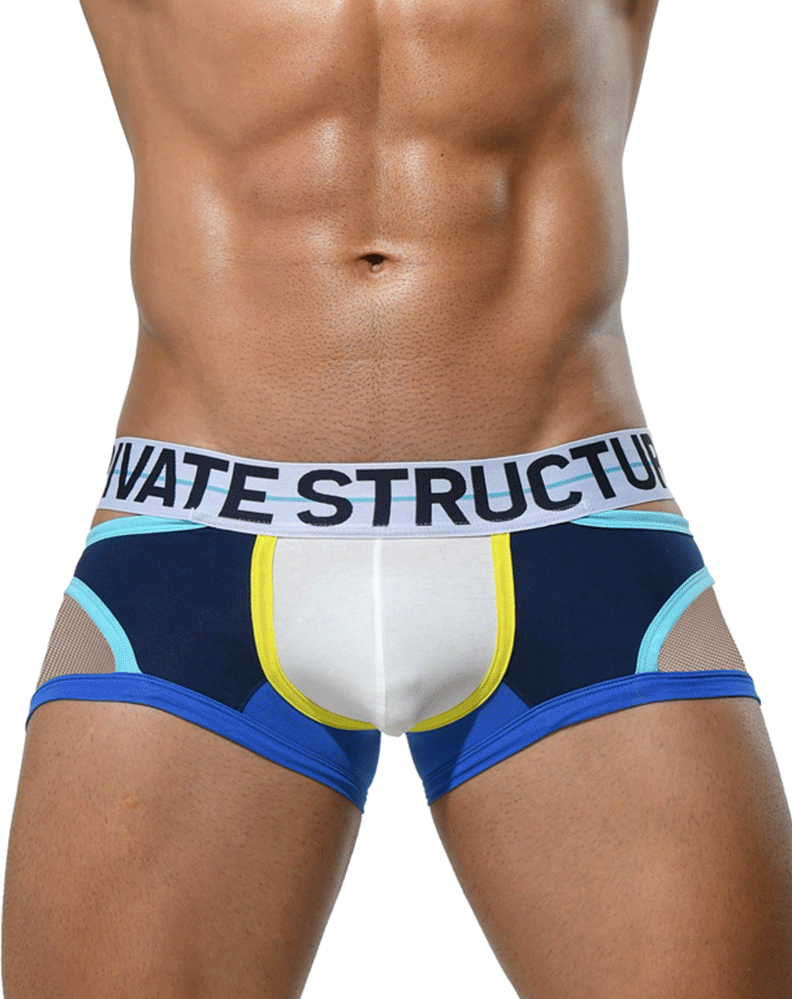 Private Structure Miuy3858 Momentum Orange Cut Out Trunks Navy
