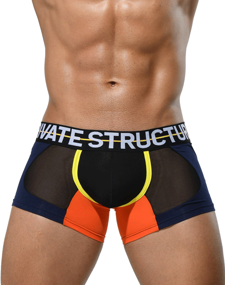 Private Structure Miuy3860 Momentum Orange Trunks Black