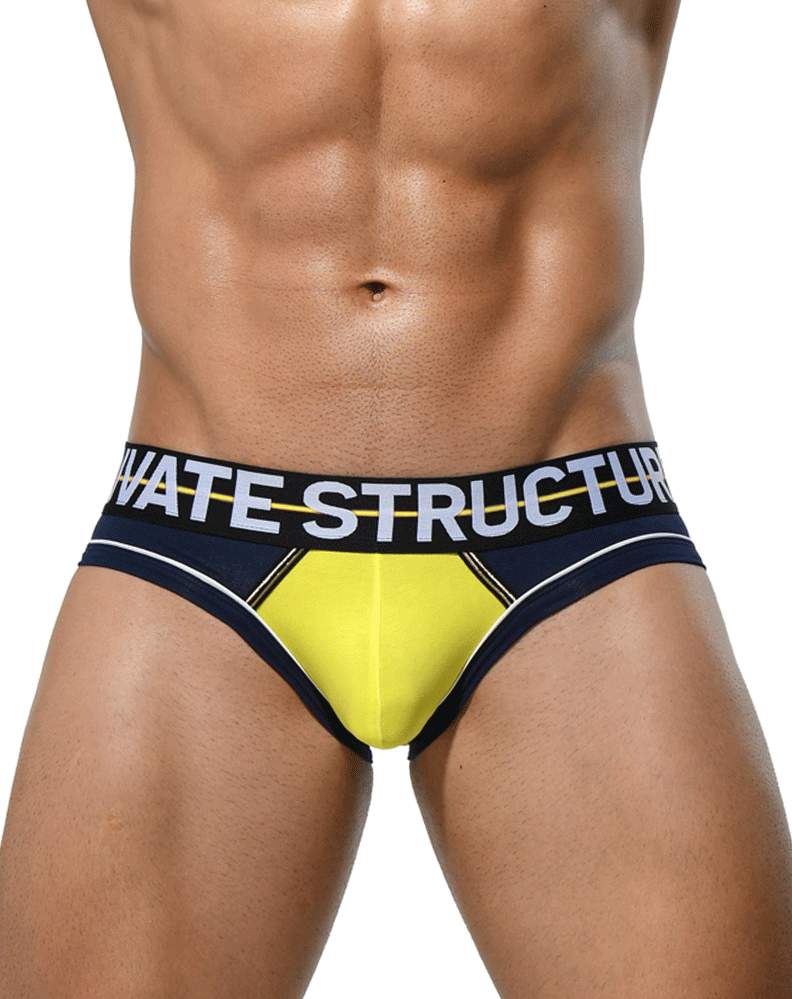 Private Structure Miuy3861 Momentum Orange Mini Briefs Navy
