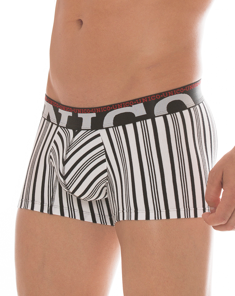 MUNDO UNICO 1720082052 Boxer/Trunk Cotton Enigma Byn 7""