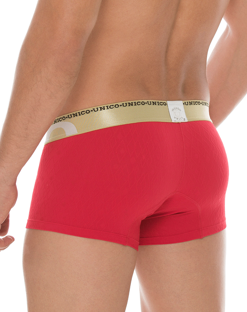 MUNDO UNICO 1720083589 Boxer/Trunk Microfiber Bacilon Red 7""