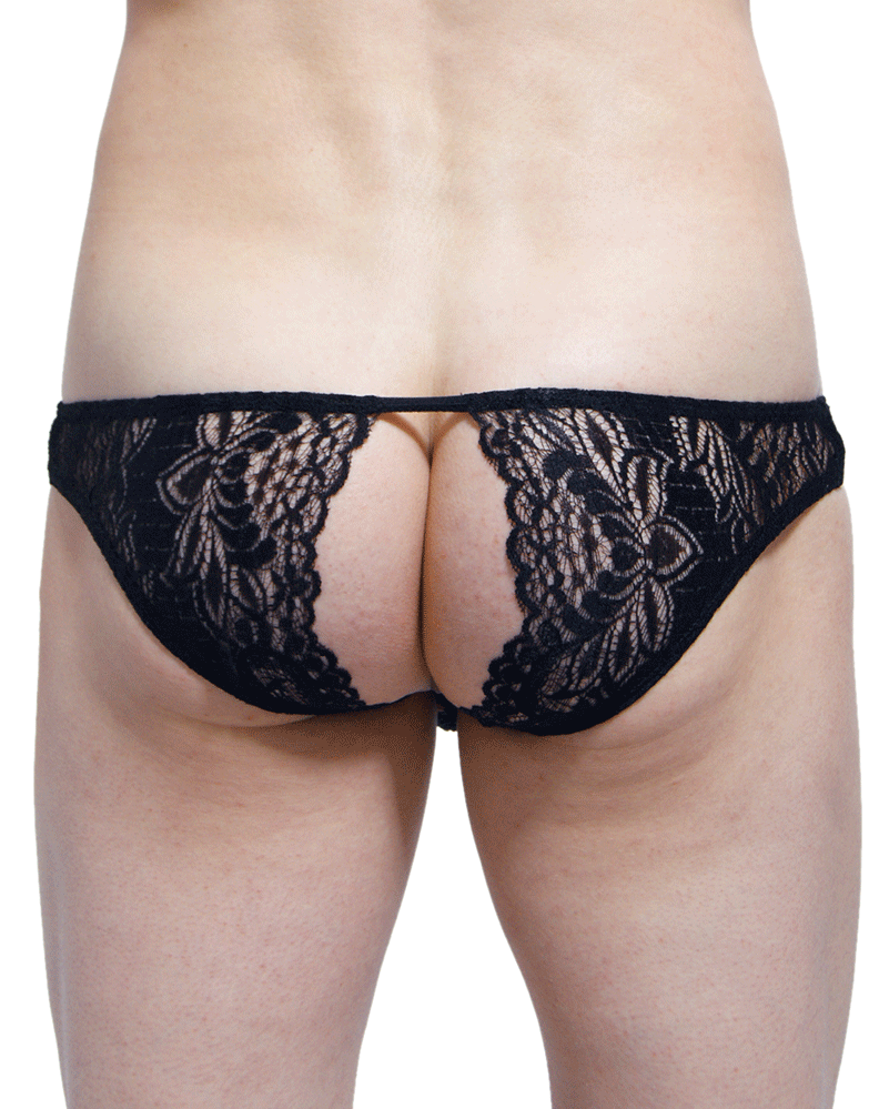 Petitq PQ170801 Corlier Open Back Briefs Black
