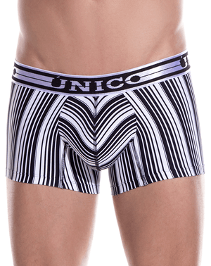 Unico 1902010012552 Trunks Crossbreed Black-white - StevenEven.com