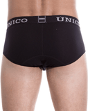 Unico 9612020110799 Briefs Soft Black Cotton Black - StevenEven.com
