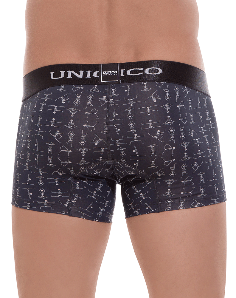Unico 1803010011399 Boxer Briefs Skelleton Black - StevenEven.com