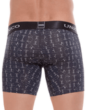 Unico 1803010021399 Boxer Briefs Skelleton Black - StevenEven.com