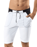 CLEVER 0597 Guarulhos Swimsuit Long Trunk White - Steveneven.com