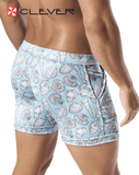CLEVER 0601 Snails Swimsuit Trunk Gray