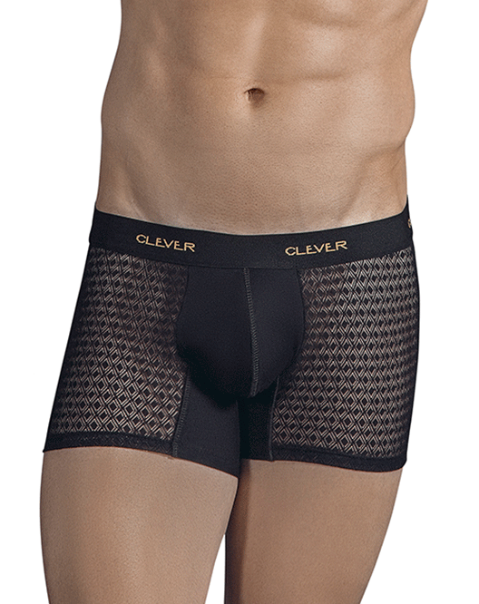 CLEVER 2310 Magnificent Boxer Briefs Black - Steveneven.com