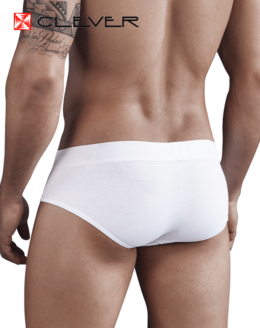 CLEVER 5266 Tupac Piping Brief White - Steveneven.com