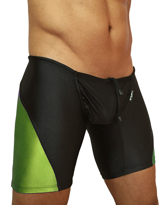 ERGOWEAR VEW0411 FEEL Swim Trunk Black-Lime - Steveneven.com