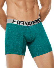 HAWAI 4995 Boxer Briefs Green - Steveneven.com