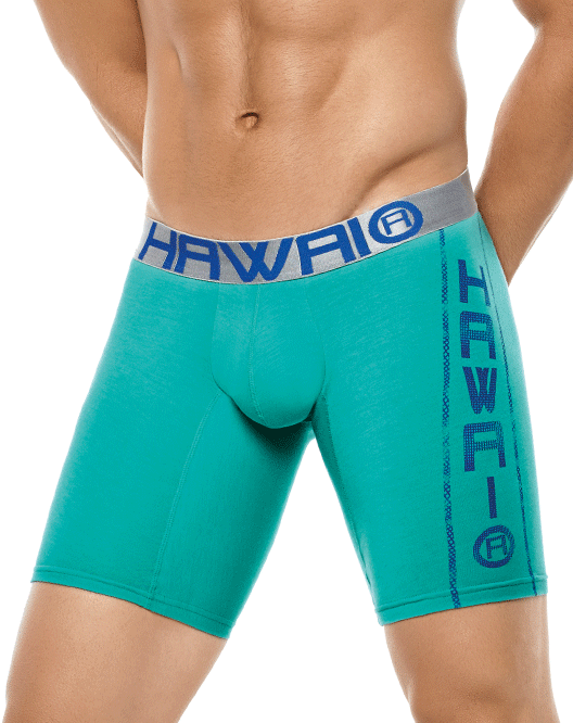 HAWAI 4996 Boxer Briefs Green - Steveneven.com