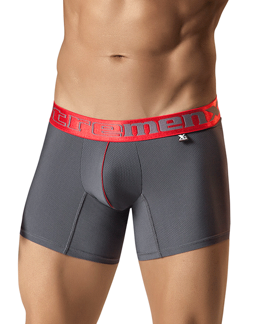 "Xtremen 51354 Boxer Brief Microfiber 10"" Gray"