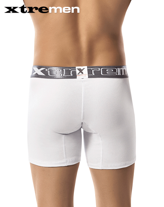 "Xtremen 51360 Boxer Brief 10"" White - StevenEven.com"