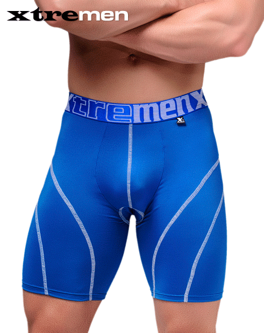 XTREMEN 51371 Cycling Padded Boxer Briefs Blue - Steveneven.com