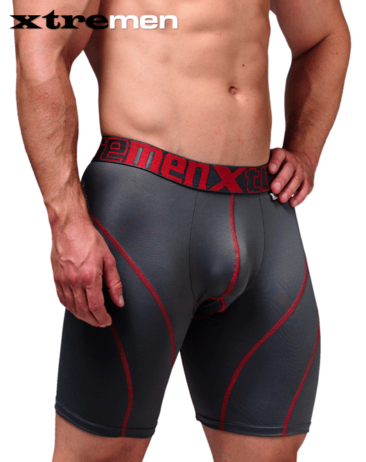XTREMEN 51371 Cycling Padded Boxer Briefs Gray - Steveneven.com