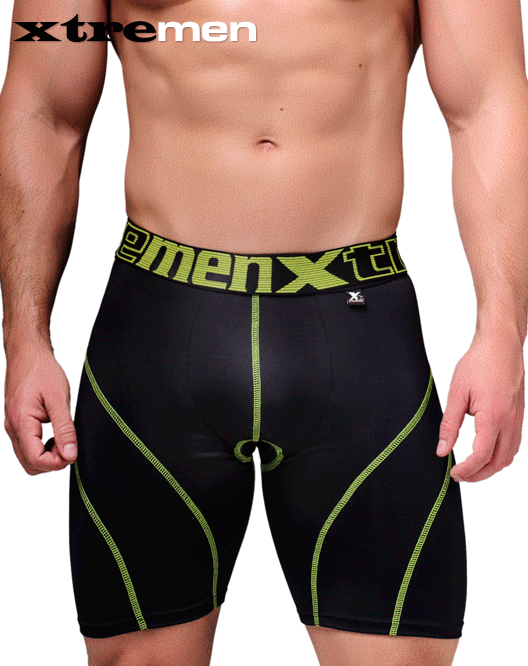 XTREMEN 51371 Cycling Padded Boxer Briefs Black - Steveneven.com