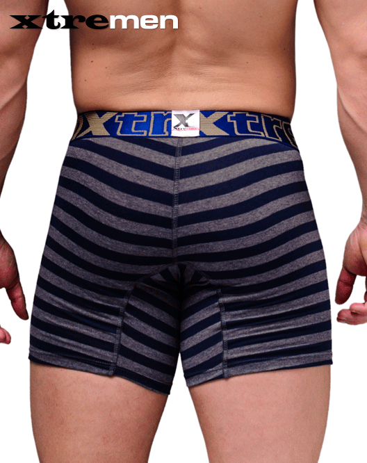XTREMEN 51382 Cotton Boxer Briefs Blue - Steveneven.com