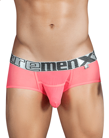 Xtremen 51419 Boxer Briefs Microfiber Stripes White
